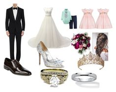 """""""wedding day"""" by sierranicoleteague on Polyvore featuring Carter's, Anavini, Ralph Lauren Purple Label, Versace, Jimmy Choo and Palm Beach Jewelry"""