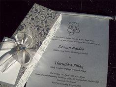 Ref Thirushka In Box ( We can do any colour) www.weddingcards.co.za Wedding Cards Handmade, Traditional Wedding, Wedding Invitations, Colour, Box, Prints, Color, Snare Drum, Wedding Invitation Cards