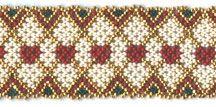 Hearts & Diamonds - Huichol style Bracelet Pattern at Sova-Enterprises.com Many FREE Bead Pattern available!