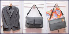 Old Suit: New Bag {a tutorial}