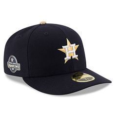 pretty nice 0fd20 e1449 Houston Astros New Era 2018 Gold Program Low Profile 59FIFTY Fitted Hat –  Navy