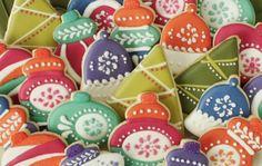 Retro Christmas Ornament Cookies