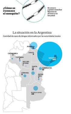 El mapa del dengue: cómo está la situación provincia por provincia  Fuente:Sociedad Argentina de Infectología y gobierno de la Ciudad.