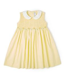 Another great find on #zulily! Yellow Smocked Dress - Infant & Toddler #zulilyfinds