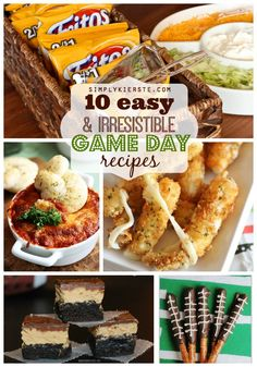 10 easy & irresistible game day recipes, perfect for the Super Bowl or big game! Appetizers, desserts and more!