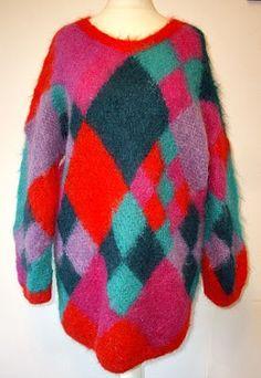80s oversized mohair jumper