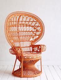 Orange peacock chair