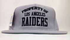 VINTAGE DEADSTOCK PROPERTY OF LA RAIDERS NEW ERA SNAPBACK HAT CAP NEW WITH  TAGS 77fce3962b17