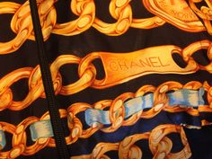 #Chanel #chainprint silk bomber jacket (the chains)