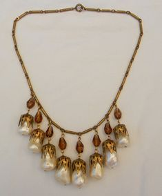 Vintage 1930s Miriam Haskell Czech Style Faux by Lauriechacha, $115.00