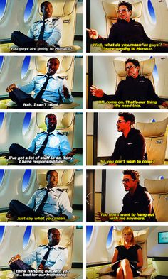 "In which Tony is that clingy friend who guilts you into things.  (Deleted scene from ""Iron Man 2"")"