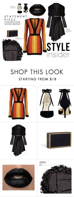 """Orange Is The New Black"" by stylebehavior ❤ liked on Polyvore featuring Balmain, Nine West, BCBGMAXAZRIA and Urban Decay"