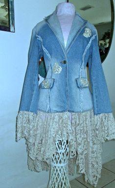 Lace Jeans, Denim And Lace, Stevie Nicks, Corset, Renaissance, Beige, Types Of Lace, Rhinestone Appliques, Embellished Jeans