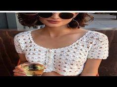 Crochet Crop Top, Crochet Blouse, Crochet Lace, Crochet Bikini, Crochet Girls, Crochet Woman, Boho Tops, Tops Tejidos A Crochet, Crop Top Pattern