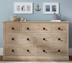 Charlie Extra Wide Dresser #pbkids Comes in Gray. Trundle, also available