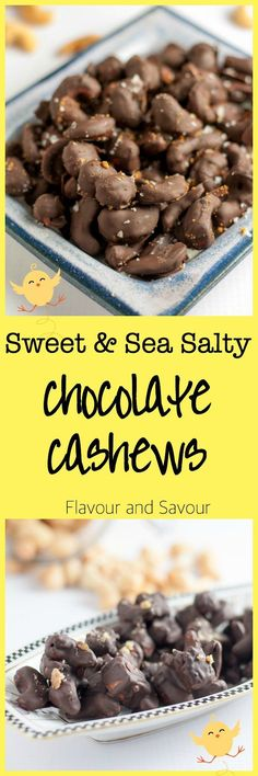 Sweet and Sea Salty Chocolate Cashews. Make your own holiday treats this year and ditch the store-bought candy. Easy recipe with simple ingredients. Candy Recipes, Holiday Recipes, Holiday Treats, Snack Recipes, Dessert Recipes, Holiday Candy, Holiday Time, Vegan Snacks, Healthy Treats