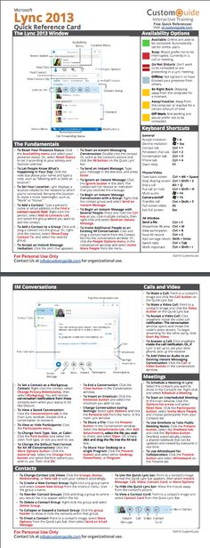 Custom Guide Quick Reference Card