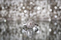 #Engagement Ring | See the wedding on SMP - http://www.StyleMePretty.com/illinois-weddings/chicago/2014/01/07/colorful-summer-wedding/ Ann & Kam Photography