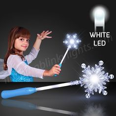Light Up Snowflake Wands dazzle during frozen holiday seasons by FlashingBlinkyLights.com