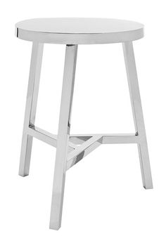 stainless stool - or side table