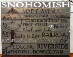 Large HomeTown Wood Sign by KLKDesignsLLC on Etsy, $150.00