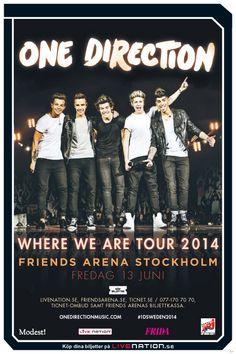 ONE DIRECTION   13 juni   Stockholm, Friends Arena  