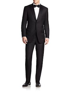 Saks Fifth Avenue Collection - Notched Lapel Wool Tuxedo