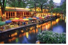 Riverwalk, San Antonio TX - collection of restaurants & shops line the river - boat tours keep the motion - lovely oasis - many other areas of interest around town