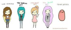 I AM the hardcore girl. But I look like the kawaii girl and that sucks. <<I'm a potato. ( • H • )