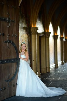 MY DRESS!! This Cinderella inspired Disney's Fairy Tale Weddings by Alfred Angelo wedding dress looks like a dream come true at Disney's  Magic Kingdom