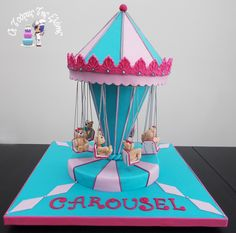 Gravity cake with mechanical rotating swing carousel !!! Watch the video. https://youtu.be/fWFA-dtIf04