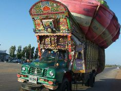 heavy loaded pakistan truck