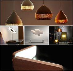 Selección de las cinco mejores lámparas modernas que vimos en el 2015, la mayoría para colgar, y de tecnología LED, pero todas ellas de diseño deslumbrante.