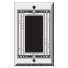 Mission Bungalow Light Switchplates in Oil Rubbed Bronze