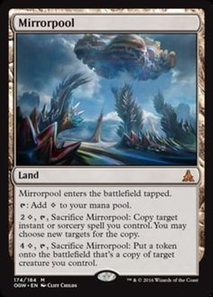 Mirrorpool mtg Magic the Gathering Oath of the Gatewatch mythic rare land card