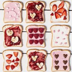 love toast valentine's breakfast inspiration or cute photo art for contemporary unisex cards Cute Food, Yummy Food, Cupcake Photography, Cupcakes, Valentines Day Treats, Valentines Breakfast, Sweet Tooth, Sweet Treats, Food Porn