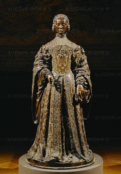 Leoni,Leone.Empress Isabella of Portugal (1505-1539),daughter of King Manuel of Portugal,wife of Emperor Karl V. With Pompeo Leoni. Bronze, Renessaince bronze  16th  Museo  del Prado