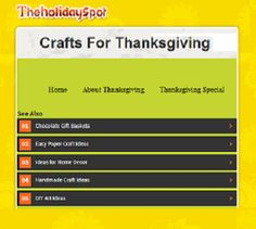 """This is an image from this resource on the Internet4Classrooms' """"Thanksgiving Activities at Internet 4 Classrooms"""" resource page:    Crafts For Thanksgiving.    A collection of magnificent Thanksgiving craft items are on display. Follow the instructions to make these interesting crafts and use them as gifts."""