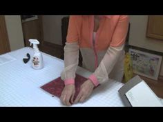 Use Terial Magic to give fabric a firmer hand for cutting with Silhouette Cameo - No Backing required! - YouTube