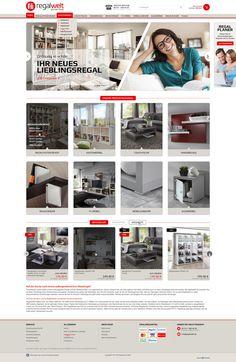 E-Commerce Webdesign made by 4market | www.4market.de/ | Onlineshop für Regale und Möbel