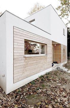 cladding / white / wood