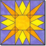 Summer's Sun~~Quilt Block 22~~Reminds me of Tangled