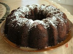 Chocolate Chip Pound Cake. I've made this cake a few times. It's so good! And only 6 ingredients! Very dense and rich!