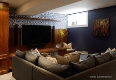 Gillian Gillies Interiors Inc. - Toronto - Canada - Interiors - Family Room - Essence Furniture - Basement - Basement Bliss - House & Home