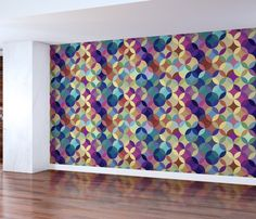 Colorful Circles 2-Vinyl Wallpaper Removable by Decosuper on Etsy