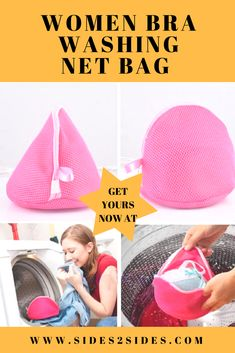1. Designed to protect your bra whilst in the washing machine and tumble dryer. 2. Perfect for machine washing and drying your bra, lingerie, and other delicates. 3. Helps prevent damage to your washing machine drum. 4. Three-layer mesh bag, help keep bra\'s in shape. Washing Machine Drum, Net Bag, Wash N Dry, Pink Design, Bra Lingerie, Dryer, Hot Pink, Mesh, Shape