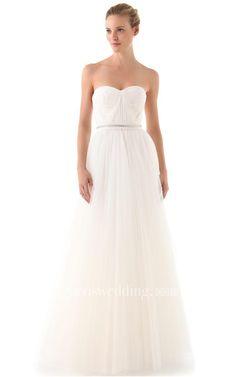 #Valentines #AdoreWe #Dorris Wedding - #Dorris Wedding Long Sweetheart A-line Organza Dress With Beaded Belt - AdoreWe.com