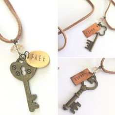 Stamped Key Suede Necklace, Joanna Gains Style, key jewlery, boho chic, key necklace by JustStampItGifts on Etsy https://www.etsy.com/listing/400368543/stamped-key-suede-necklace-joanna-gains