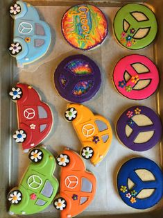 Groovy 60s Themed Cookies by The Green Lane Baker
