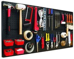 4 | 18 Genius Ways To Organize Your Garage---Pick up beg board at your local home improvement store for just a few bucks. There's a ton of ways to creatively use peg board to solve organizational problems.